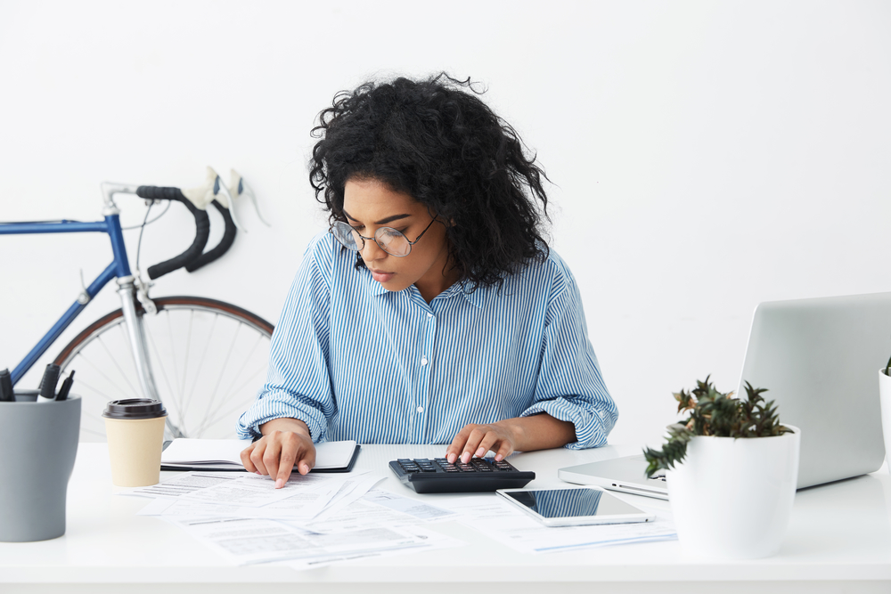 Bookkeeper | picture of bookkeeper crunching numbers